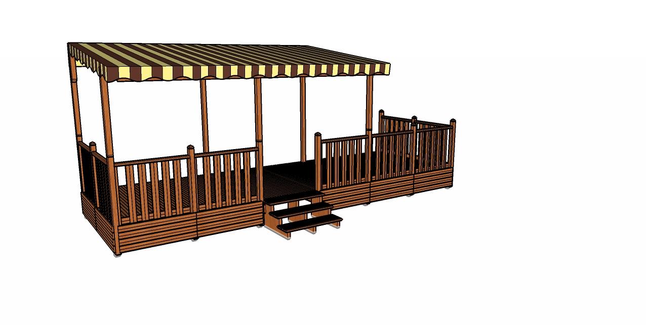 Terrasse en bois pour mobile home en bois traité autoclave classe 4