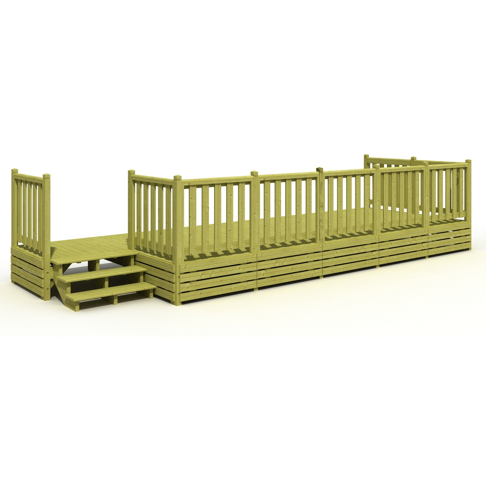 Terrasse mobil home avec sas  simple ou couverte avec ossature