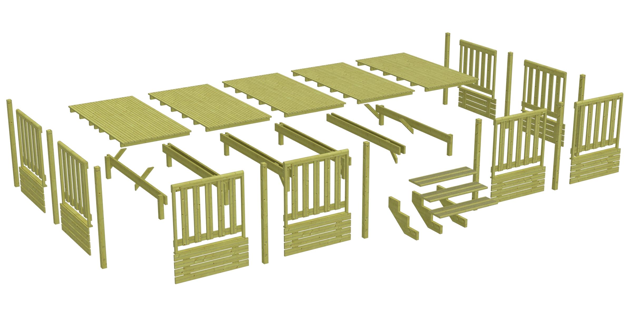 Terrasse mobil home deckit for Plan terrasse en bois