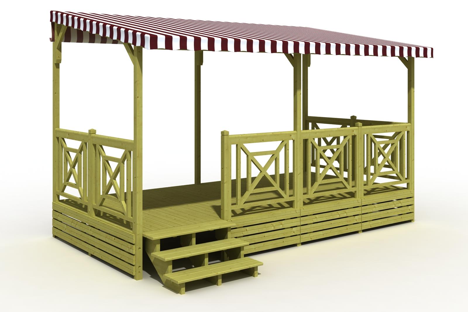 terrasse malte 250x480 ou 300x480 terrasse mobil home deckit fabricant terrasses en bois. Black Bedroom Furniture Sets. Home Design Ideas