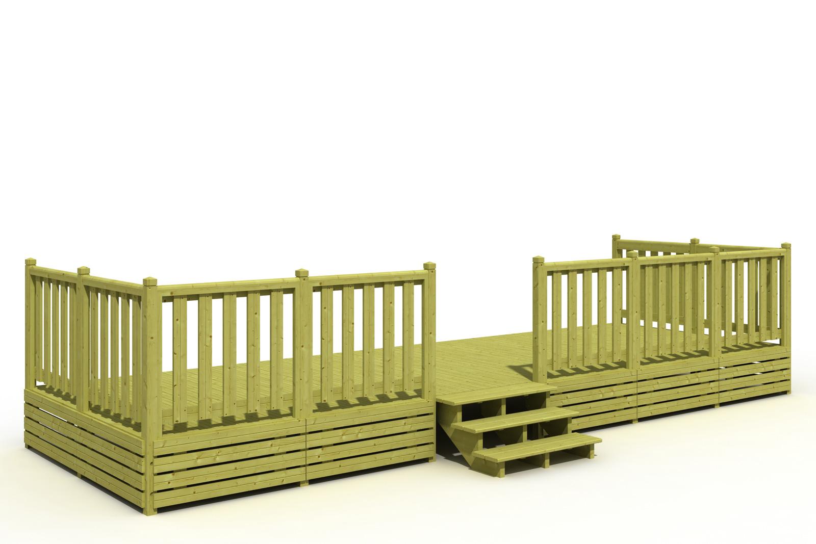 Terrasse Mobil Home  Deckit  Fabricant terrasses en bois pour