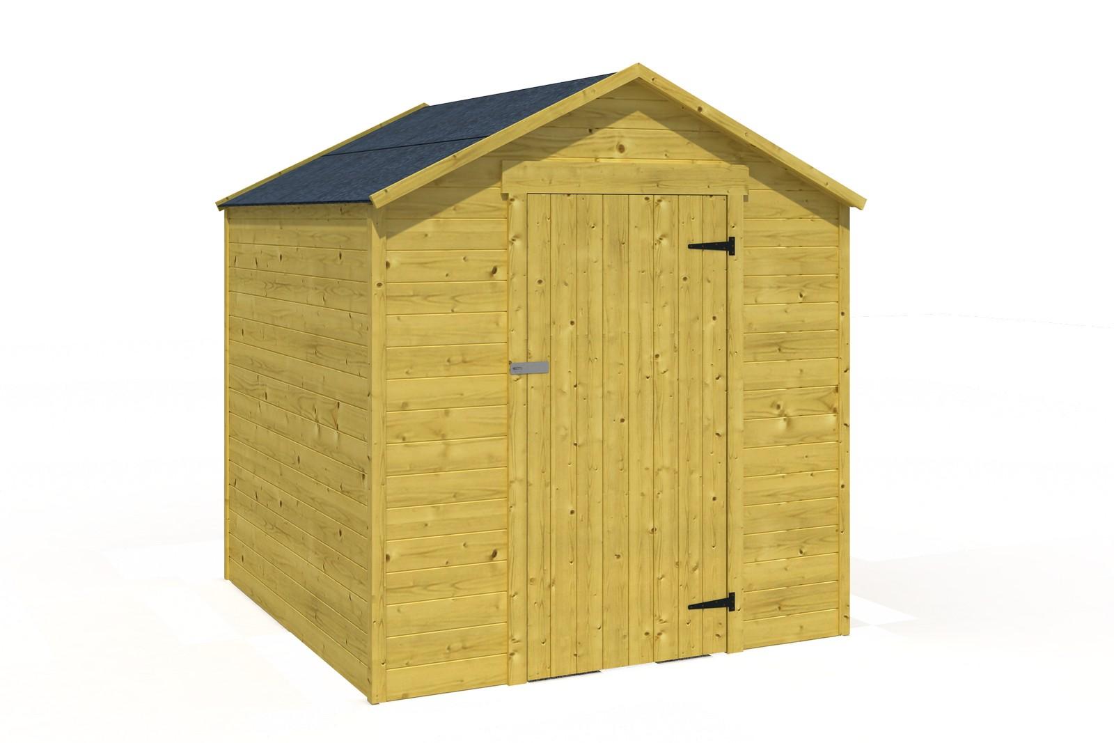 Abri camping 4 m² en bois traité autoclave.