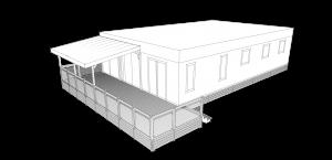 Terrasse mobil home garde corps en verre - Mobil home residentiel