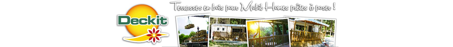 Deckit - Fabricant de terrasses bois pour mobil homes
