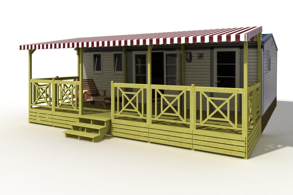 terrasse couverte pour mobil home deckit fabricant de. Black Bedroom Furniture Sets. Home Design Ideas